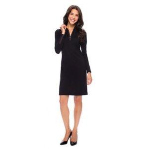 J McLaughlin Black Long Sleeve 1/4 Zip Dress